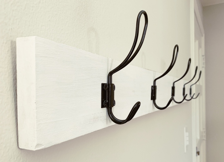 Build your Own Wall Mounted Coat Rack for $20 orLess